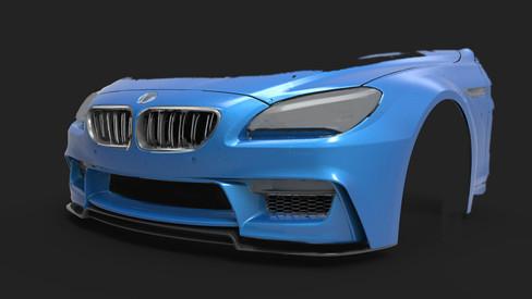 Разработка и изготовление тюнинг бампера BMW