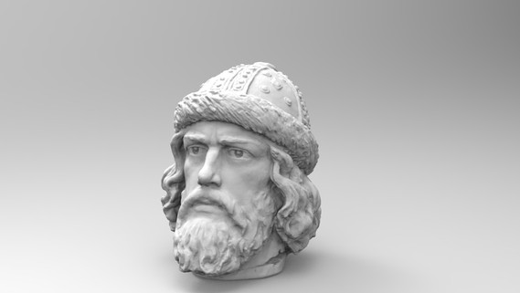 Гипсовая голова. Скульптура 3d сканирование