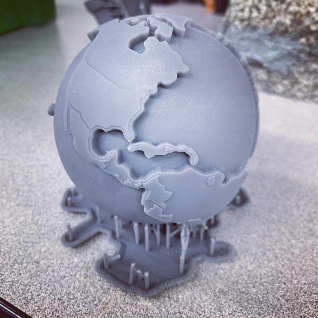 Планета земля. Фотополимерная 3d печать в москве.