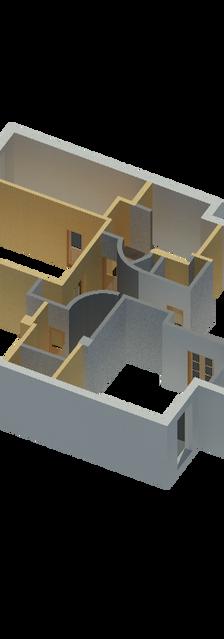 BIM - модель квартиры Москва Арбат