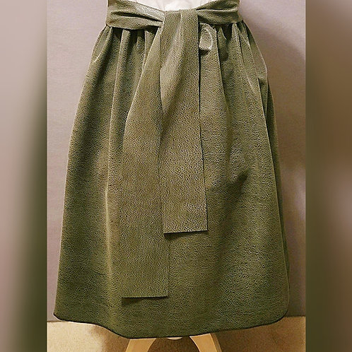 Faux Leather Green Skirt