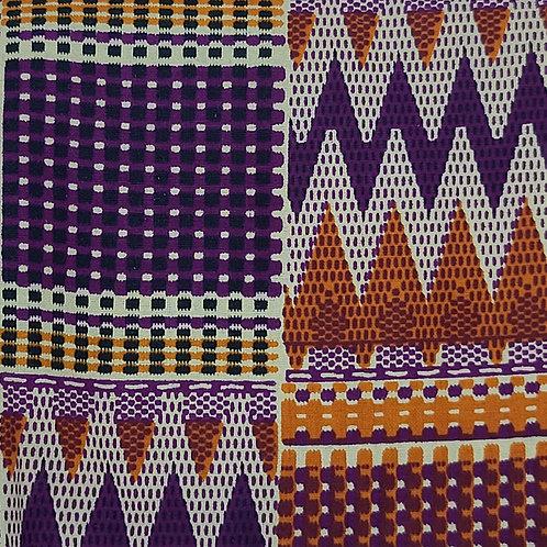 Purple & Orange Ankara