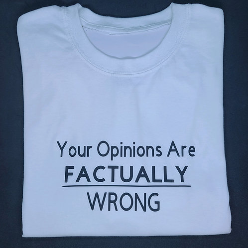 Your Opinions Are Factually Wrong