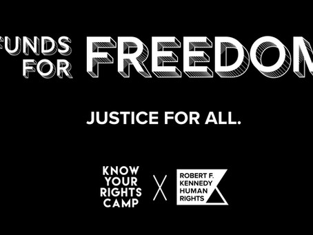 $1,000,000 to community bail funds in collaboration w/ the Robert F. Kennedy Human Rights Foundation