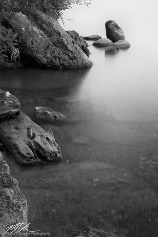 Shoreline rocks at Lake Bemidji #1, Minnesota, June 2018