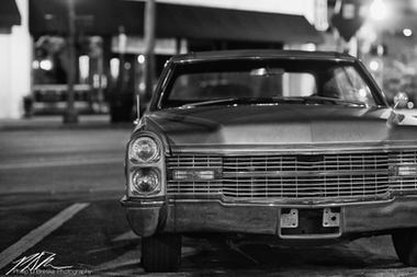 Old car at night, downtown Ocala, July 2012