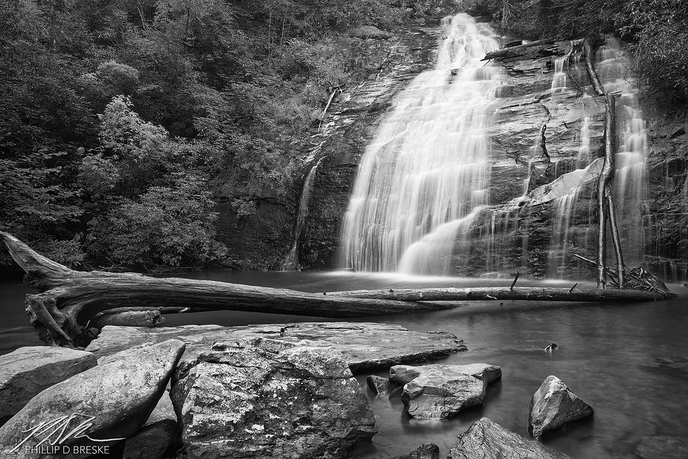 Upper falls at Helton Creek Falls, Georgia