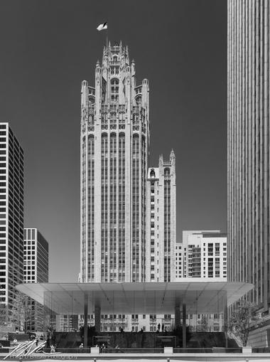 Apple Store and Chicago Tribune, June 2018