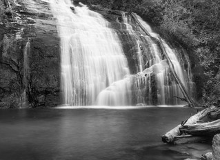 Waterfalls in the Appalachian mountains