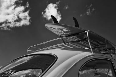 Surfboard on Volkswagen, Ocala, April 2011