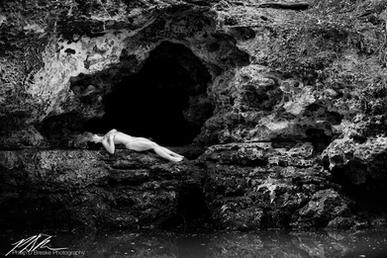 Victoria at Scott Spring cave, Ocala