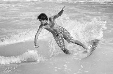 South Beach skim boarding