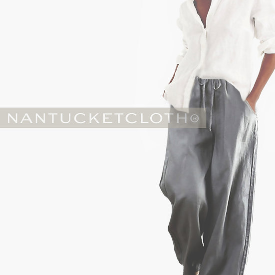 lite charcoal grey loose fit womens washed linen pants