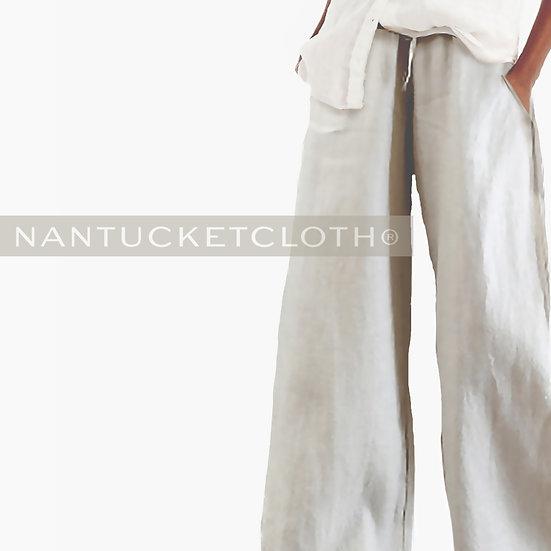 Lite stone linen beach style pants