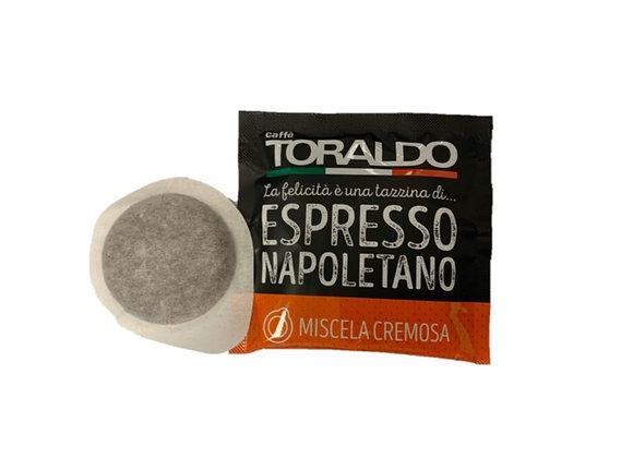 Caffè TORALDO -CIALDA ESE- MISCELA CREMOSA- CONFEZIONE 150