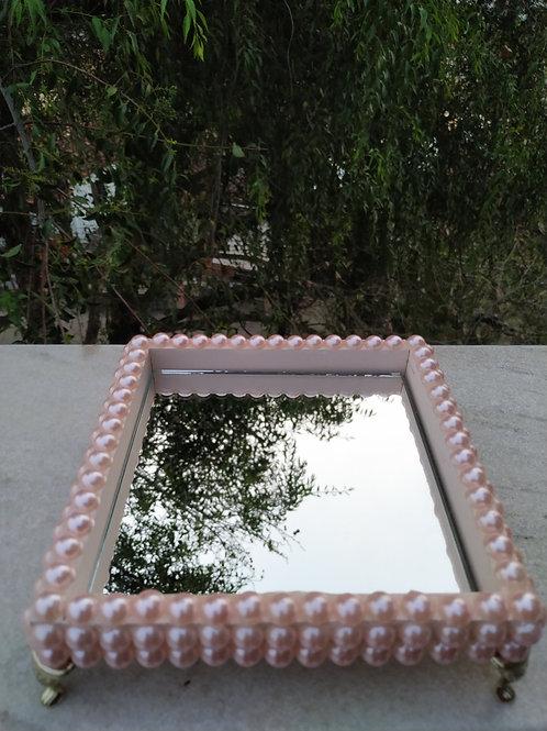 Bandeja de pérola rosa