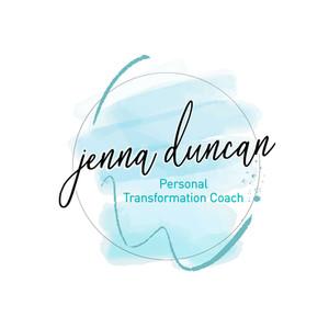 Jenna Duncan Logo - with watercolour bac