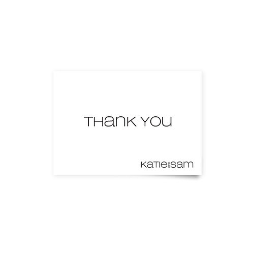 Type Keys - Thank You Cards