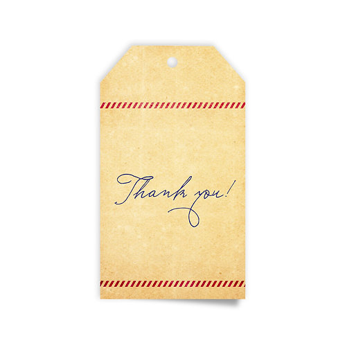 Kraft Tag - Thank You Cards