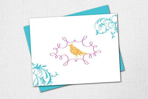 Garden Note Card - Bird