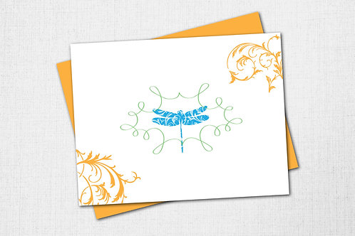 Garden Note Card - Dragonfly
