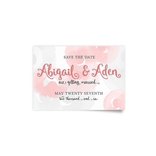Watercolor Roses - Save the Date