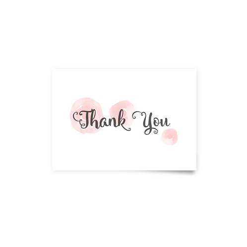 Watercolor Roses - Thank You Cards
