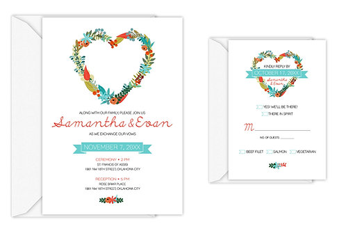 Heart Wreath Suite