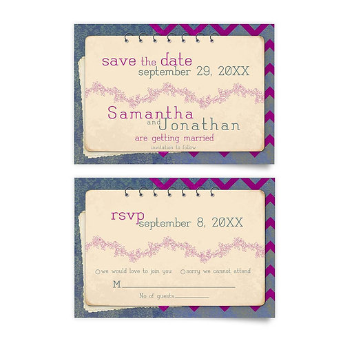 Spiral Bound - Save the Date + RSVP