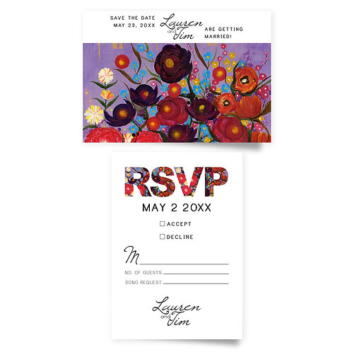 Blooms - Save the Date + RSVP