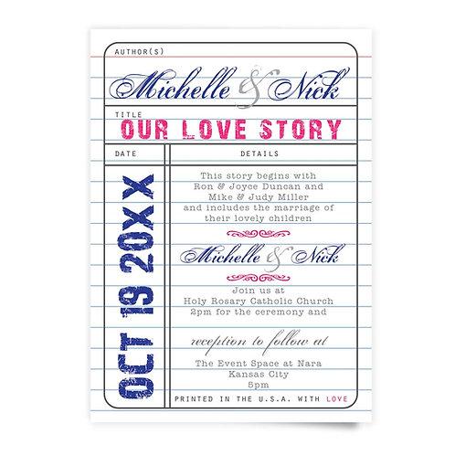 Library Card - Invitation