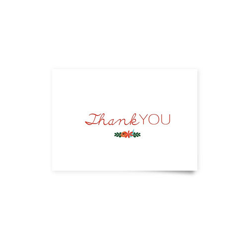 Heart Wreath - Thank You Cards