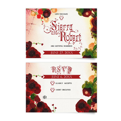 Roses - Save the Date + RSVP