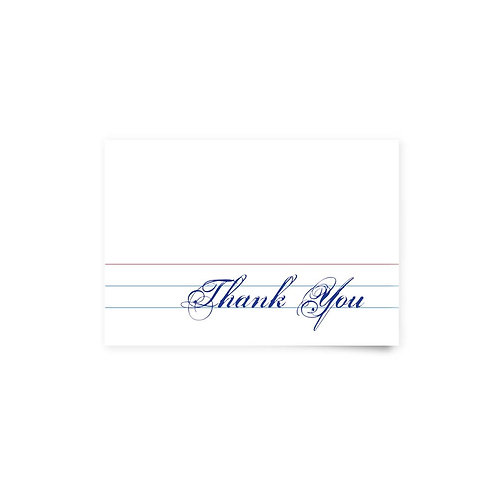 Library Card - Thank You Cards