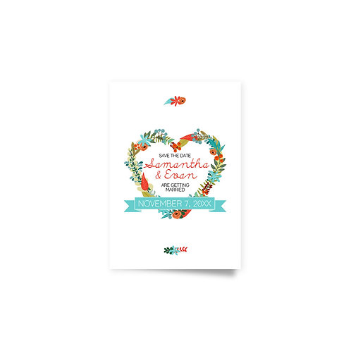Heart Wreath - Save the Date