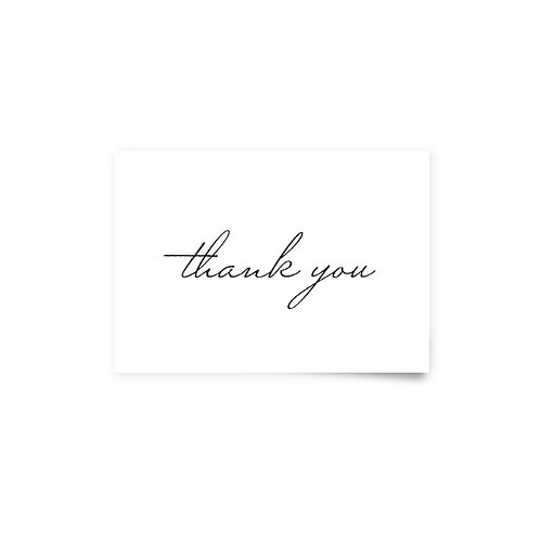 Classic 3 - Thank You Cards