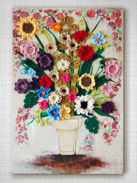 162 Floral Cone on wall_b.jpg