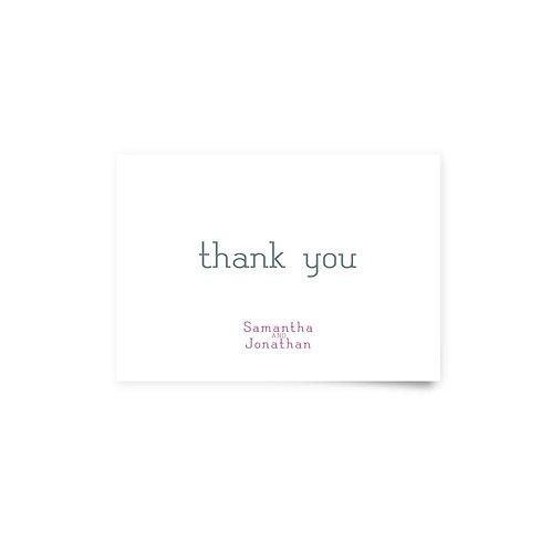 Typewriter - Thank You Cards