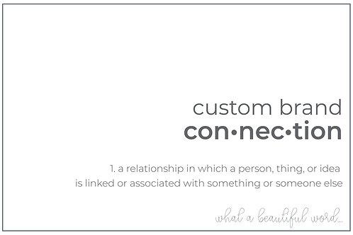 Custom Brand Connection - Logo Design