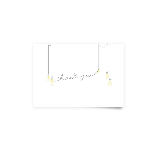 Bulbs on a Wire - Thank You Cards