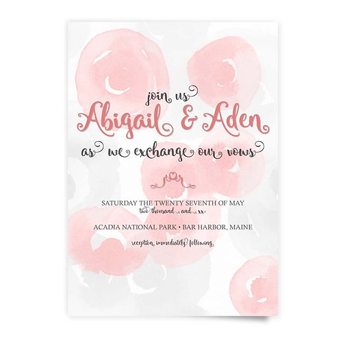 Watercolor Roses - Invitation