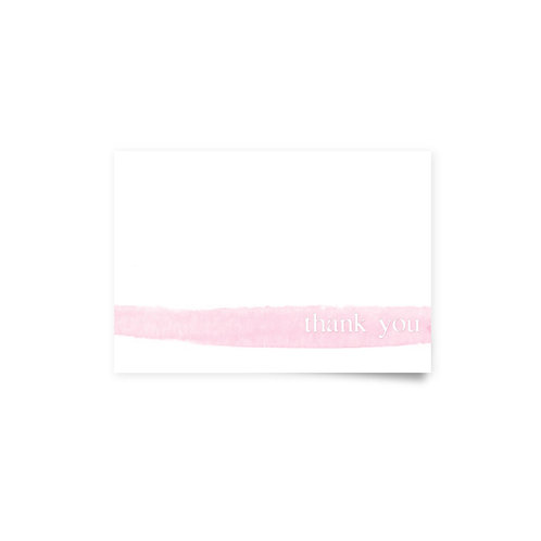 Watercolor Brush - Thank You Cards