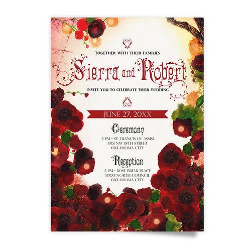 Roses - Invitation