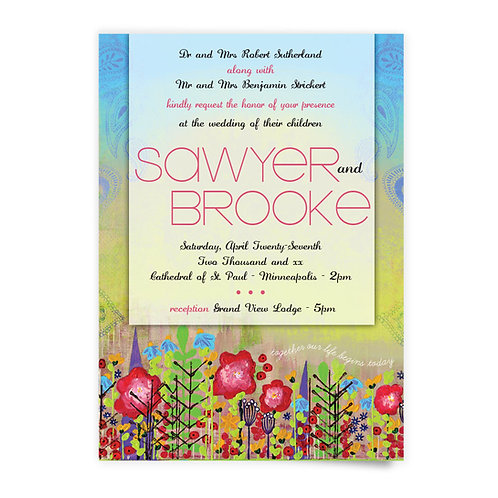 Flower Fields - Invitation