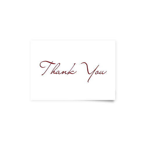 Painted Flowers - Thank You Cards