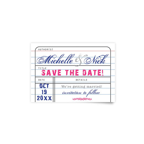 Library Card - Save the Date