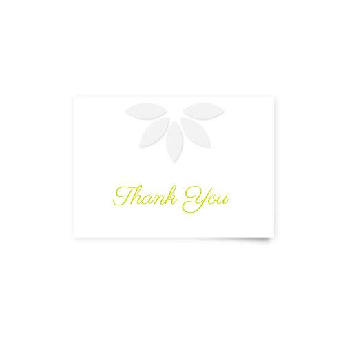 Daisy Shape - Thank You Cards
