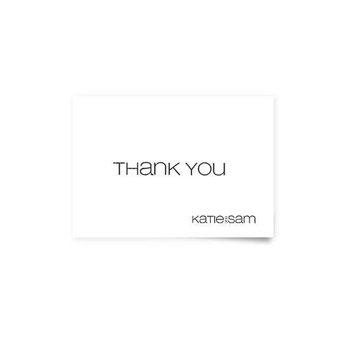 Classic 2 - Thank You Cards