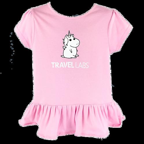 """Unicorn"" Girl's Toddler Ruffle Shirt"