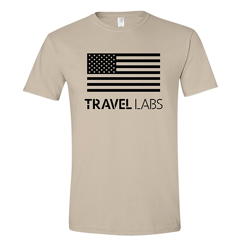"""""""Travel Labs"""" Unisex Support Our Veterans T-Shirt"""